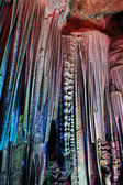 Stalactites in the silver cave — Stock Photo
