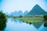 Rural scenery in China Yangshuo — Stock Photo