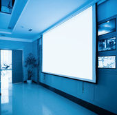 Projection screen in meeting room — Stock Photo