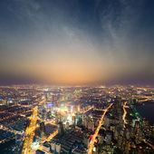 Shanghai metropolis at night — Stock Photo