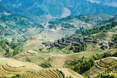 Village and terraced fields — Stock Photo
