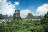 Yangshuo county town against a blue sky — Stock Photo