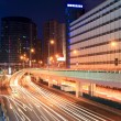 Night city highway traffic - Stock Photo