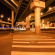 City viaduct at night — Stock Photo