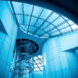 Stockfoto: Futuristic elevator in modern tower