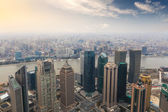 Overlooking shanghai in the afternoon — Stock Photo
