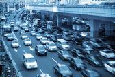 Hora do rush tráfego em xangai — Foto Stock
