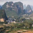 Stock Photo: Beautiful karst mountain in yangshuo