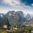 Stock Photo: Aerial view of karst mountain landscape