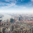 Overlooking metropolis of shanghai — Stock Photo