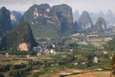 Beautiful karst mountain in yangshuo — Stock Photo