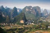 Chinese rural scenery of karst mountain — Stock Photo