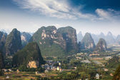 Aerial view of karst mountain landscape — Stock Photo