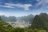 Beautiful karst mountain landscape around yangshuo — Stock Photo