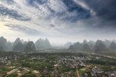 Karst mountain landscape against a blue sky — Stock Photo