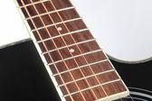 アコースティック ギターのクローズ アップ — ストック写真