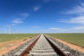 Railway on the steppe — Stock Photo