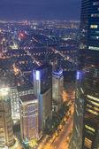 Con vistas a la metrópoli de shanghai — Foto de Stock