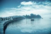 在北京颐和园十七拱桥 — 图库照片