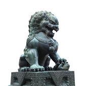 Bronze lion isolated — Stock Photo
