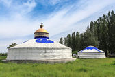 Mongolian yurts — Stock Photo