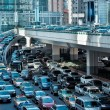 Stock Photo: Automobile congestion in morning rush hour