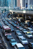 Automobile congestion in rush hour — Stock Photo