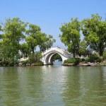 Stone arch bridge in guilin — Stock Photo