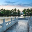 Banyan lake at dusk — Stock Photo