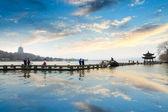 Hangzhou west lake at afterglow — Stock Photo