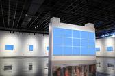 空白の展示壁 — ストック写真
