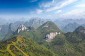 Guilin karst mountain landscape — Stock Photo
