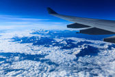 Aircraft wing on the himalayas — Stock Photo