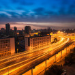Stock Photo: Elevated road at dawn
