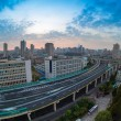 Stock Photo: Overpass at daybreak in shanghai