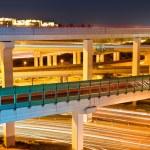 Beautiful viaduct at night — Stock Photo #18099933