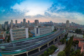 Overpass at daybreak in shanghai — Stock Photo