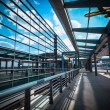 Airplane on the modern airport terminal — Stock Photo #18100649