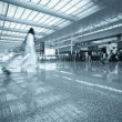 Stock Photo: Passengers motion blur in shanghai