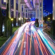 Light trails under the elevated road — Stock Photo #18101785