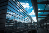 Sky reflection in the airport terminal — Stock Photo