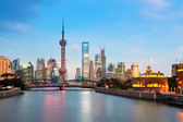 Beautiful night in shanghai — Stock Photo
