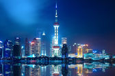 Night shanghai skyline — Stock Photo