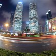 Stock Photo: Night scene of shanghai with fish-eye view