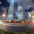 Night scene of shanghai with fish-eye view — Stock Photo #18126095