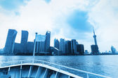 Shanghai skyline from north bund view — Stock Photo