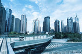 Passerella visite turistiche nel centro di shanghai — Foto Stock