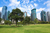 City greenbelt park in shanghai — Stock Photo