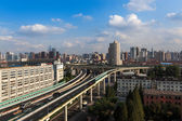 The grade separation bridge in shanghai — Stock Photo