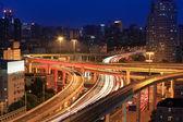 Highway overpass at night — Stock Photo